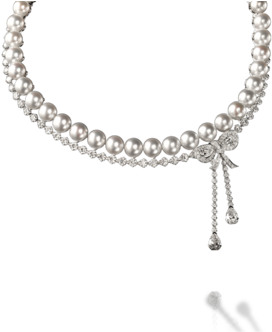 Transparent pearls strand. Download hd of png