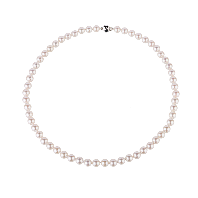 Pearl strand png. Ct white gold