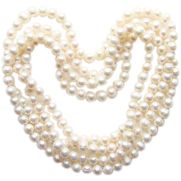 Transparent pearls vintage. Fresh water pearl necklace