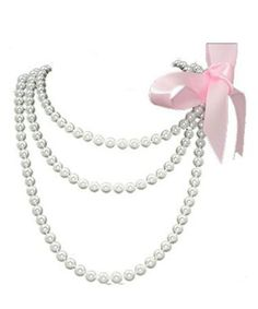 Pearls clipart pearl chain. Necklace vintage s rhinestone