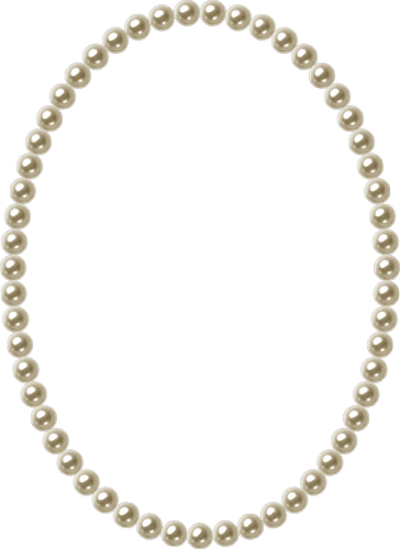 Pearl string . Pearls png transparent banner black and white stock