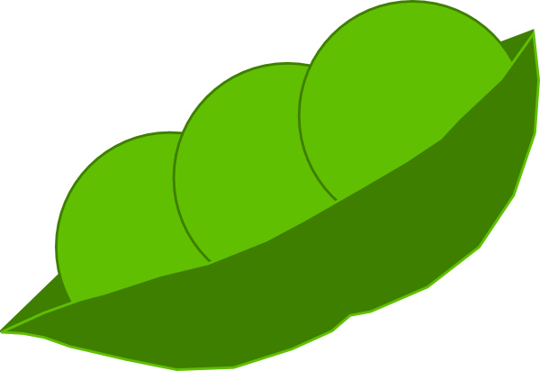 peas drawing pod background
