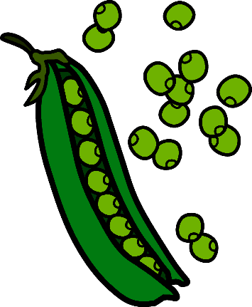 Peas drawing princess. And the pea clipart