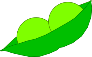 Peas drawing two. In a pod clip