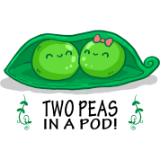 Peas drawing two. In a pod by