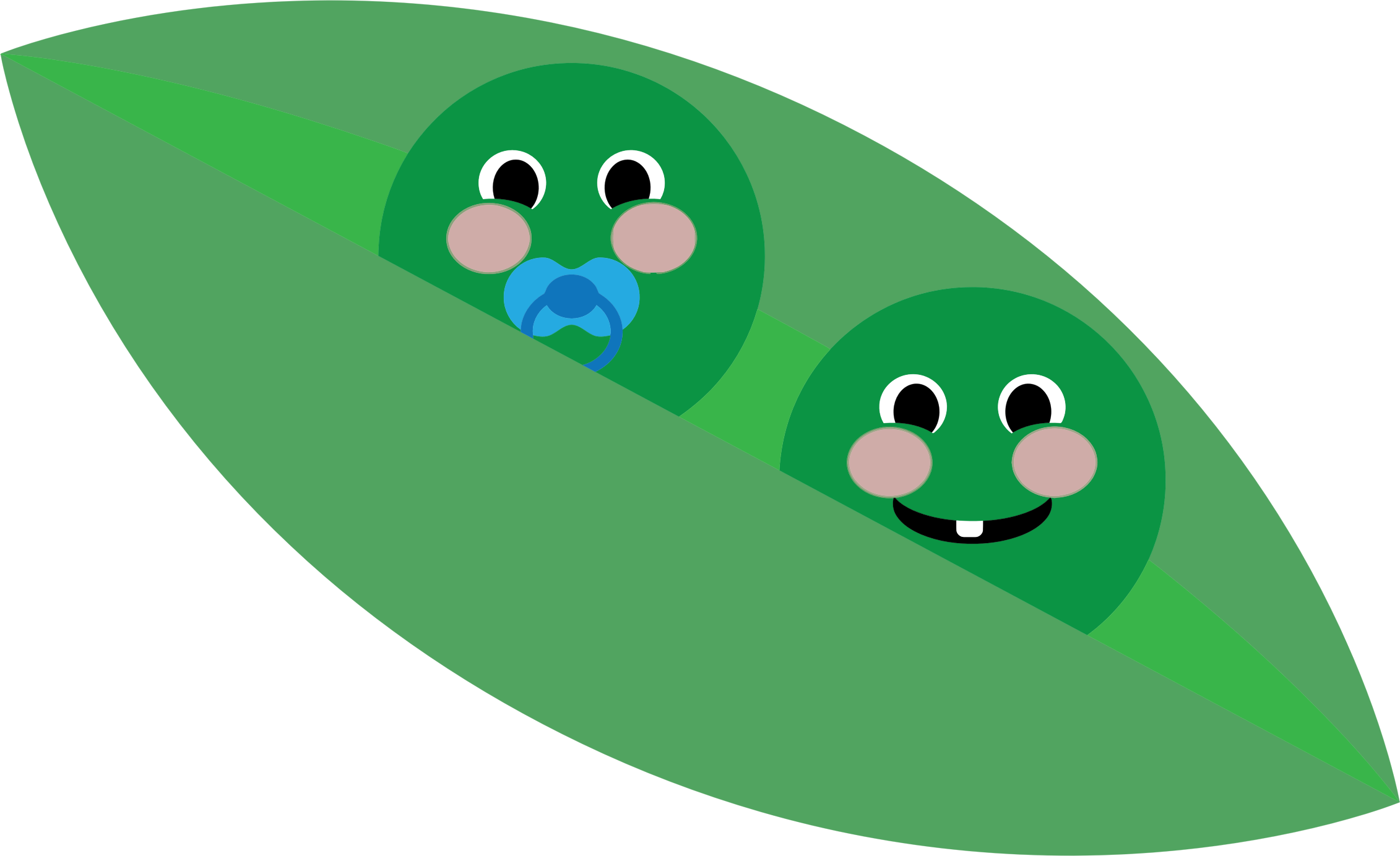 Peas drawing two. In a pod icons