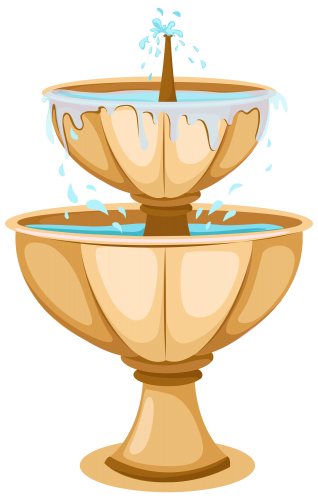 Pedestal drawing clipart. Garden fountain png clip