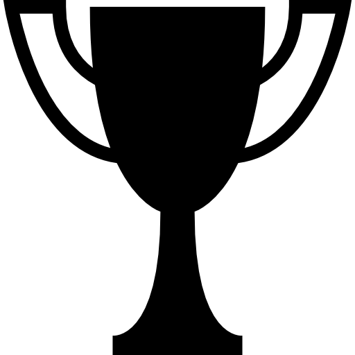 Pedestal drawing championship trophy. Cup for sports icons