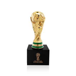 Pedestal drawing cup trophy. Official fifa world signed