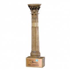 Pillar transparent greek. Corinthian trophy award resin
