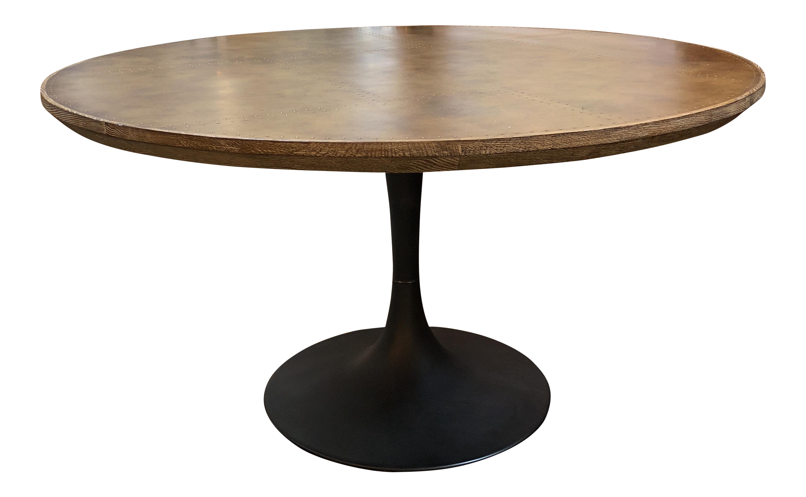 Pedestal drawing round table. Four hands powell dining