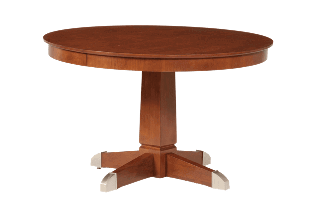 Pedestal drawing round table. Dining room tables for