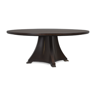 Pedestal drawing round table. Christopher guy dining tables