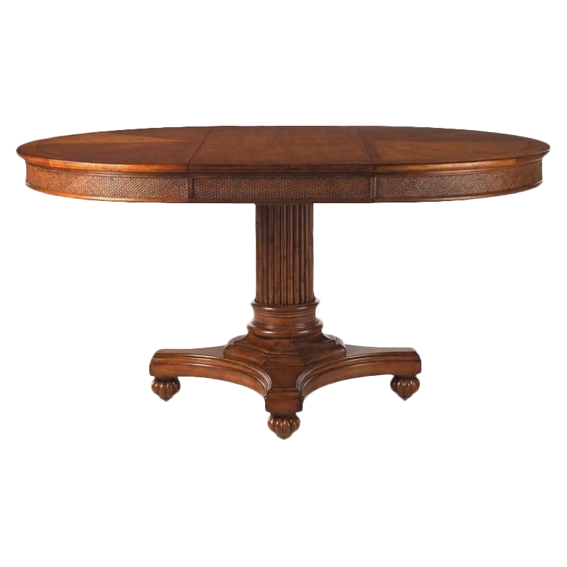 Pedestal drawing round table. Seldens home furnishings tommy