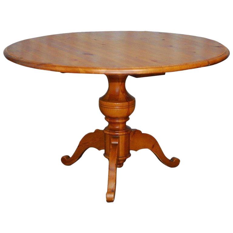 Pedestal drawing round table. English country pine dining