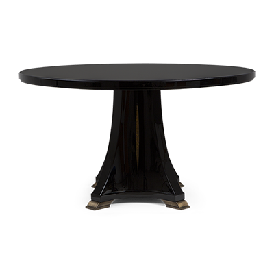 Pedestal drawing round table. Christopher guy center tables