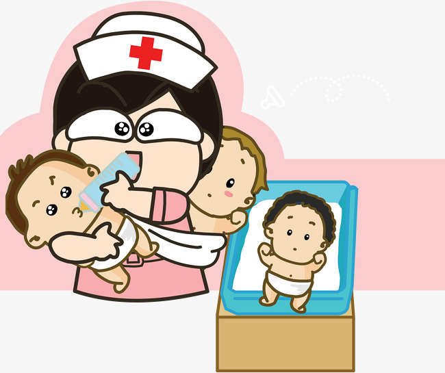 Room clipart animated. Cartoon cute pediatrician newborn