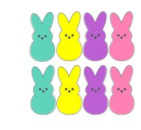 Easter merry christmas and. Peeps clipart yellow vector free stock