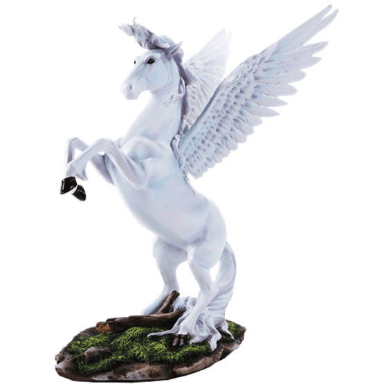 Pegasus statue png. Rearing white cc from