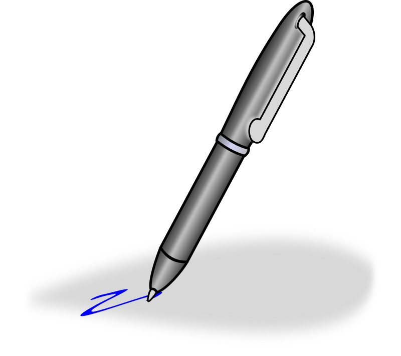 pen clipart handwriting pen