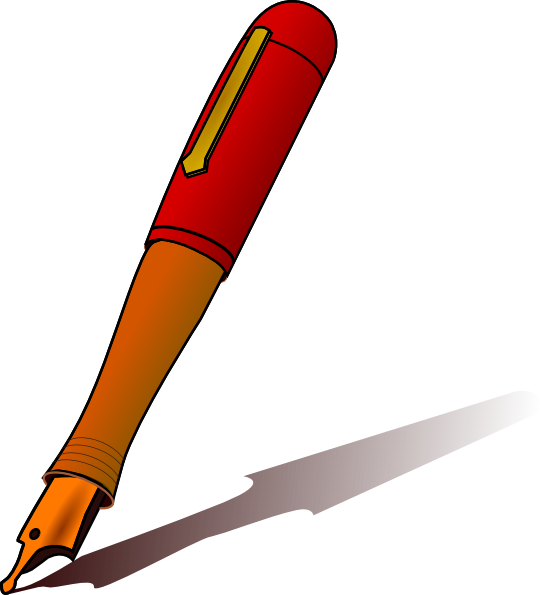 Pen clipart handwriting pen. Clip art at clker