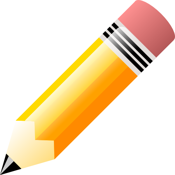 Pencil clipart. Yellow