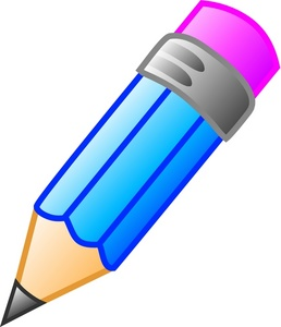 Pencil clipart education. Blue