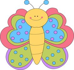 Pencil clipart face. Butterfly and in color