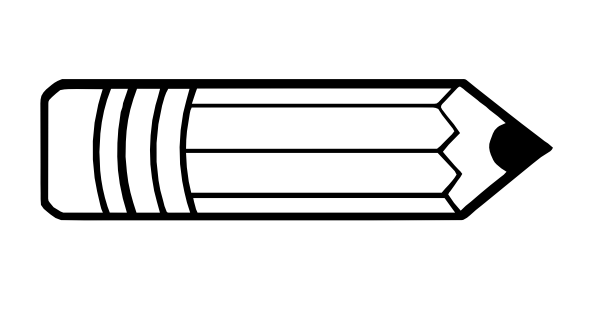 Pencil clipart template. And in color