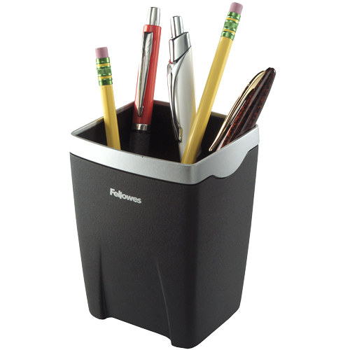 Cup transparent pens. Office suites pencil fellowes