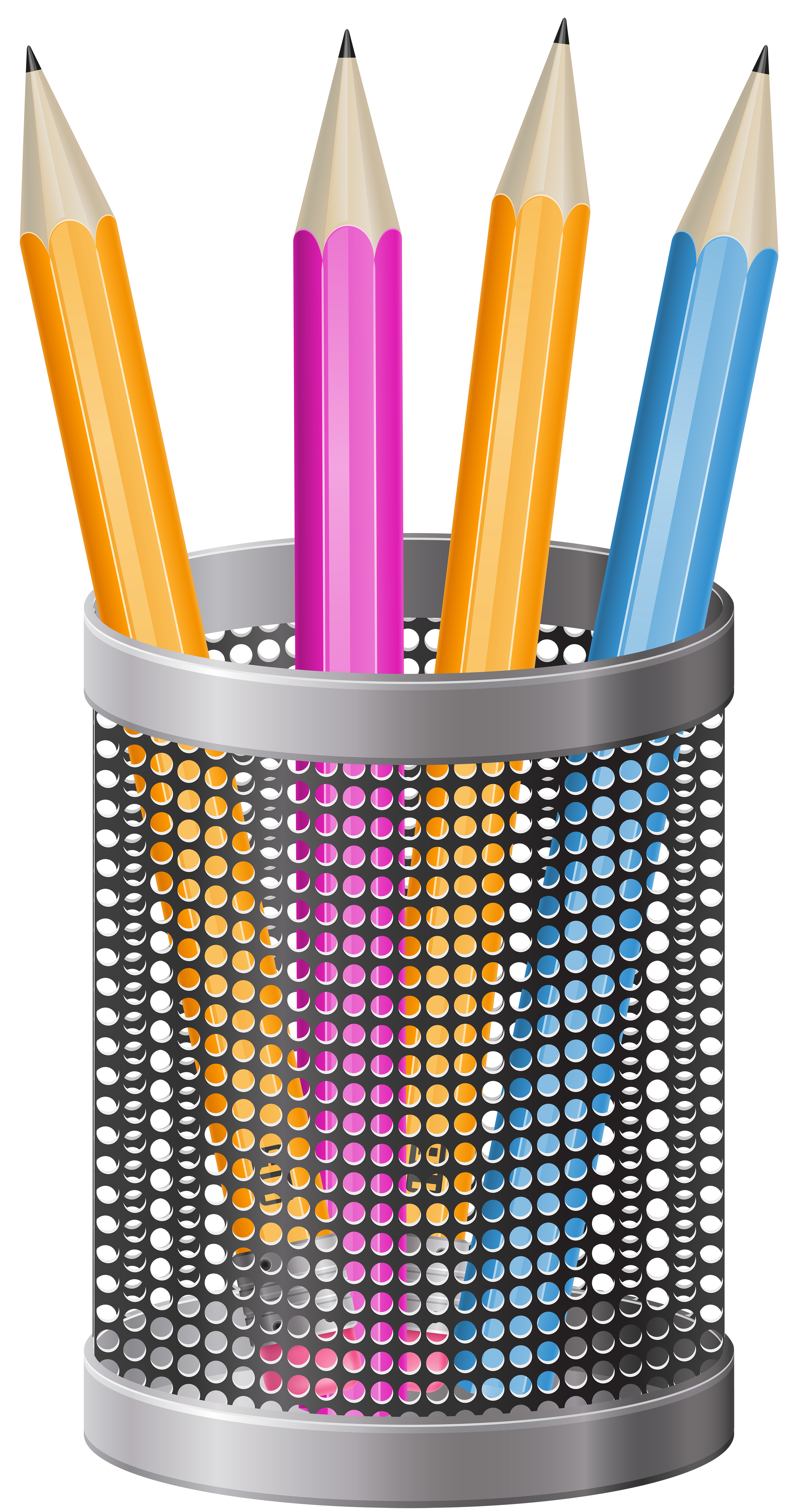 Cup transparent pens. Metal pencil png clip