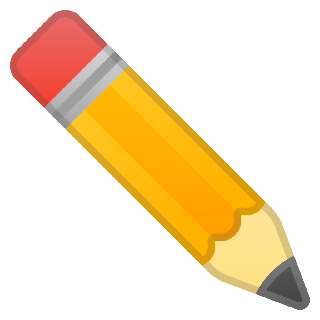 Pencil icon png. Noto emoji objects iconset