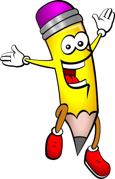 Pencils clipart cartoon. Pencil