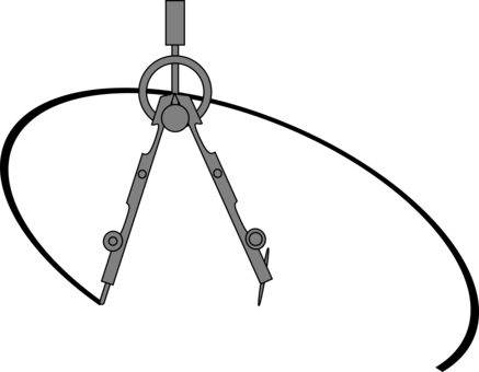 Compass clipart protractor. Technical drawing tool computer
