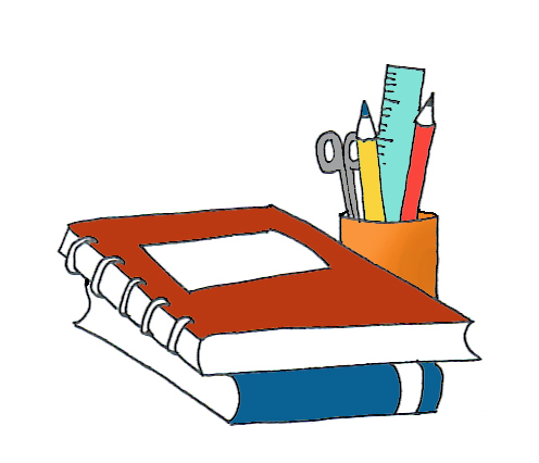 Pencils clipart school. Pictures books and