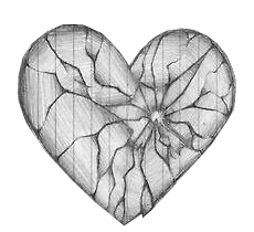 Drawing it broken heart. Collection of a