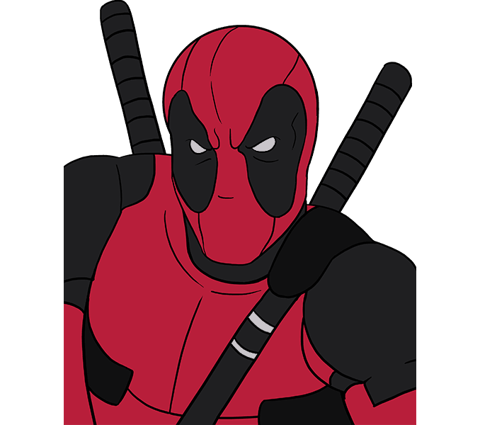 Hd drawing deadpool. How to draw easy