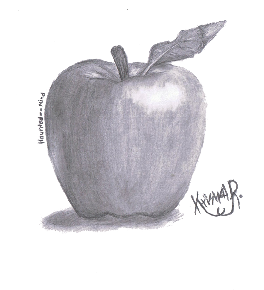Pencils drawing sketch. First apple by haunted