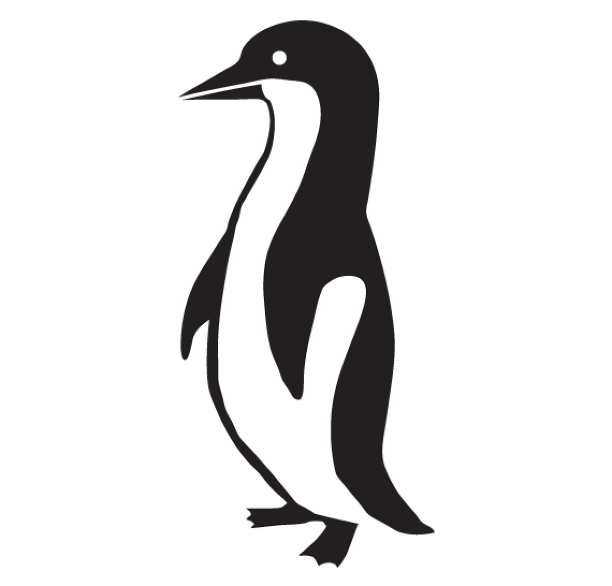 Penguin. Sticker hackerstickers