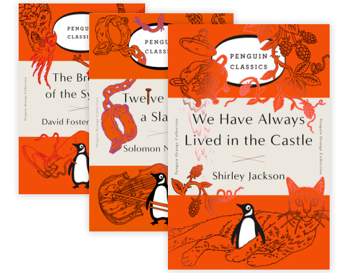 Penguin books png. Orange collection