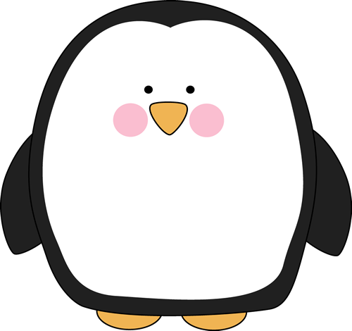 Penguin clip art. Chubby image large and