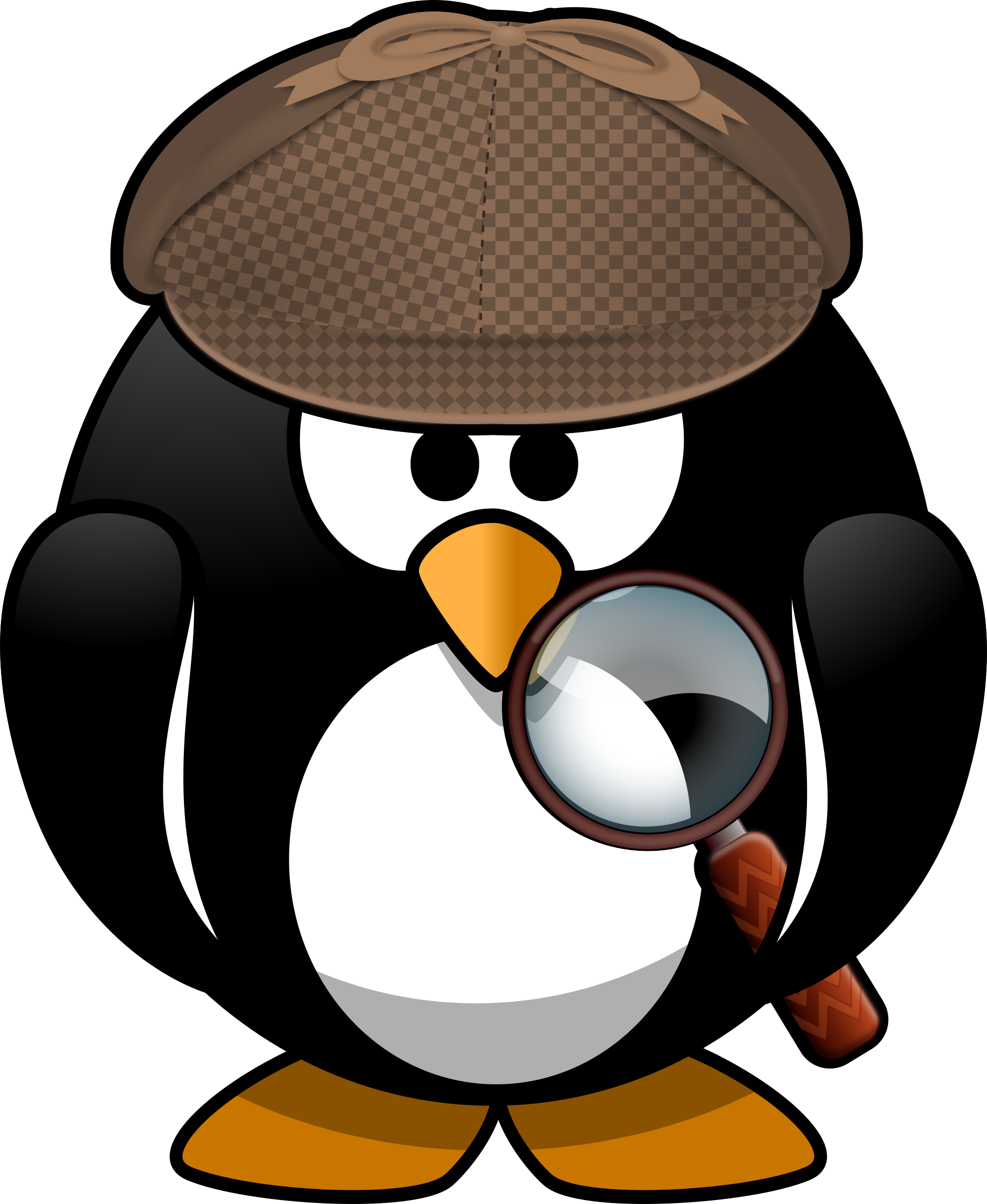 Penguin clip art artistic. Sleuth icons png free