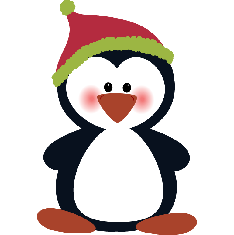 Christmas clipart hanslodge cliparts. Penguin clip art artistic vector freeuse