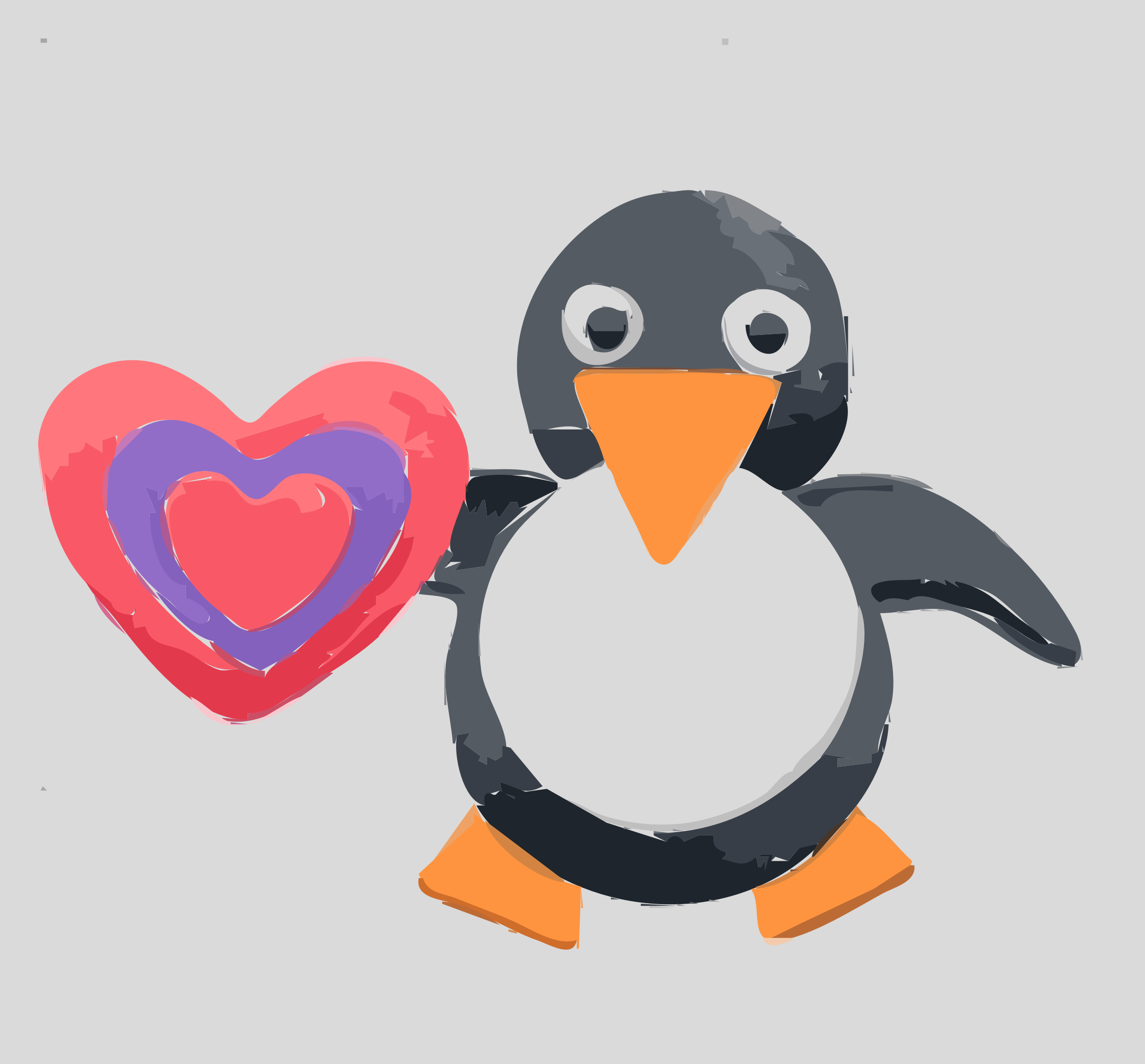 Penguin clip art artistic. Be mine icons png