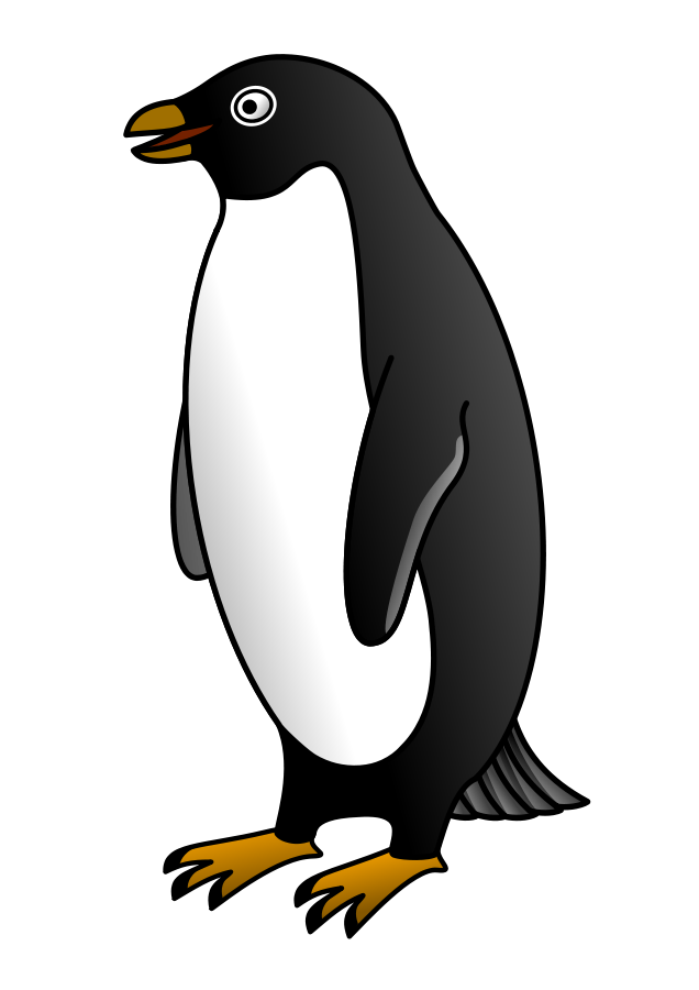 Penguin clip art emperor penguin. Beautiful design clipart printable