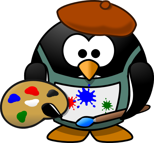 Penguin clip art artistic. Artist at clker com