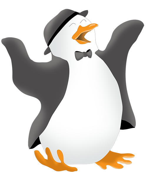 Penguin clipart dancing