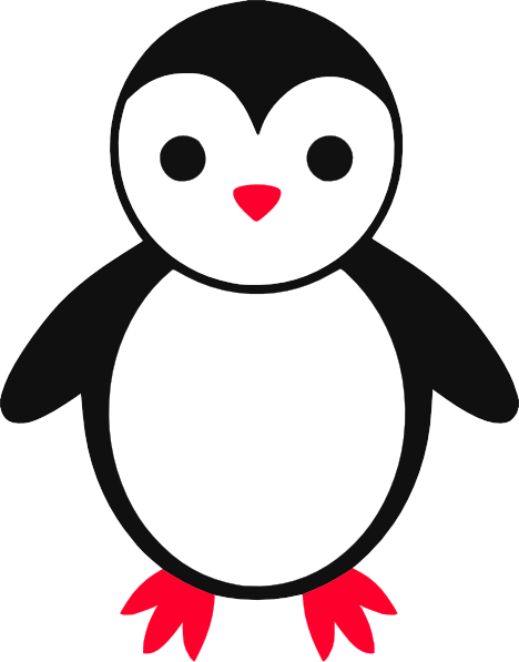 Cute at clker com. Penguin clip art baby penguin picture free stock