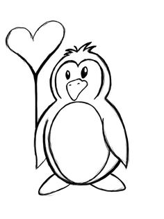 Penguin clip art black and white. Download b outline by