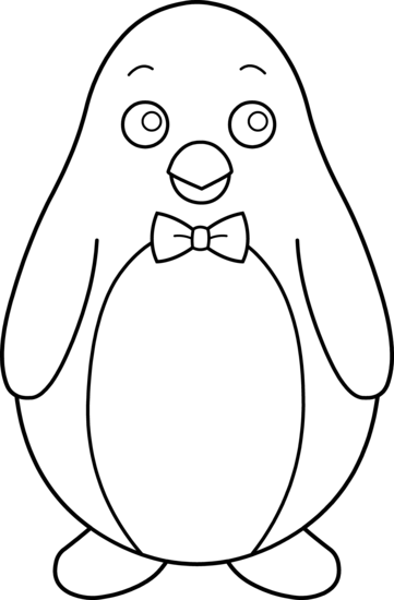 Penguin clip art black and white. Free clipart
